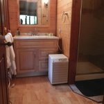 Bathroom vanity and towel warmer