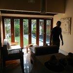 loungeroom/kitchen looking outside