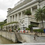 Fullerton Hotel is right on Singapore River