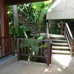 Stairs to our villa