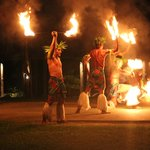 Fire dancing show was worth seeing.