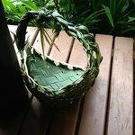 Woven basket made at Bula Club by the Nannies