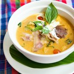 Red curry with roasted duck
