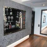 Cool mini bar inbuilt into the wall - love the design!