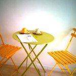 il tavolino della stanza verde