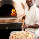 Thin-crust wood-fired pizza's at Christina's @ Van Loveren Bistro