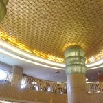 high ceiling lobby