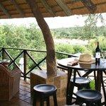 Patio Bar overlooking Kruger Park