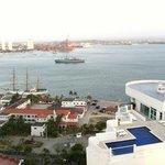 vista de la bahía desde la azotea