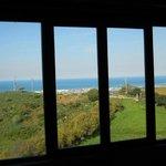 il panorama vista dalla nostra stanza, colline dell'Argenta e mare