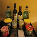 Mini bar snacks