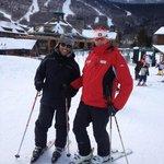 With ski instructor