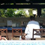 Bar by the pool for endless drinks and snacks