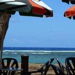 Vue depuis le restau-plage Le Bénitier proche de la résidence