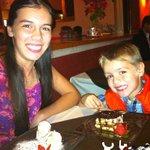 My kids enjoying their desserts (Cannoli de la Nona and Tiramisu)
