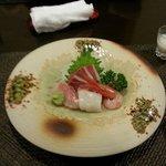 Fresh sashimi from sea 40km away