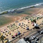 Praia de Boa Viagem, vista da suite do Golden Tulip.