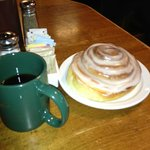 The awesome cinnamon roll...get it heated, of course