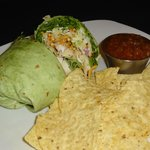 Asian Chicken Wrap with Chips & Salsa