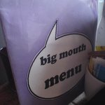 Menu Card, Big Mouth Cafe, Partick