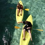 Taking advantage of some of the free activities the resort offers...kayaking!