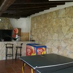 Play area, ping pong, barbecue and small bed´s for a nap.