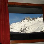 Great view of Saulire peak from our room