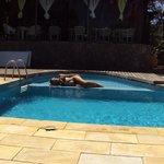 Descanso en la piscina