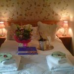 Lovely quaint and clean bedroom, inc. flowers/champagne/chocolates requested by my partner