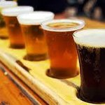 Local Crafted Beer Flights in Big Owl's Bar
