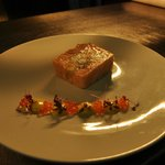 Potted Tasmanian Salmon and slipper lobster saffron aoili and petite salad (GF)