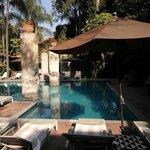 Une vue sur la piscine
