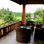 The veranda with stunning view