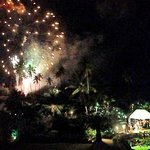 Wonderful fireworks display hosted by Sugar Beach on New Years' Eve!
