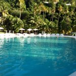 The stunning swimming pool at Sugar Beach