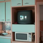 Extention of kitchen area, TV and microwave
