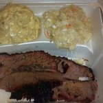 Terrible brisket plate. Nasty & old, chewy, no flavor