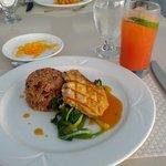 Sunday dinner. Yummy pork and rice and peas