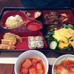 Kal Bi Tang boxed lunch.  $13 and you get plenty of great food.