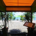 Teh Hotel/Restaurant entrance from the Beach