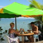 Breakfast at one of the Beach Tables