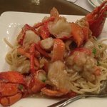 Lobster with soft noodle