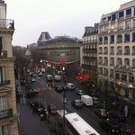 View from the room (Walk down this street to reach Republique Station)
