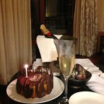 Complementary birthday cake - thank you Shangri-la Boracay!!
