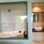 beautiful bathroom with awesome spa