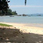 The beach behind hotel