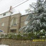 hostel under the snow