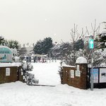 Entrance to Egerton Park in snow