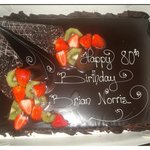 Chocolate Birthday cake for my friend 2012