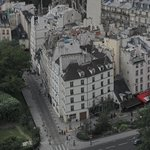 the hotel from the Notre Damme South Tower